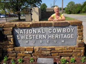 Nancy at Cowboy Museum